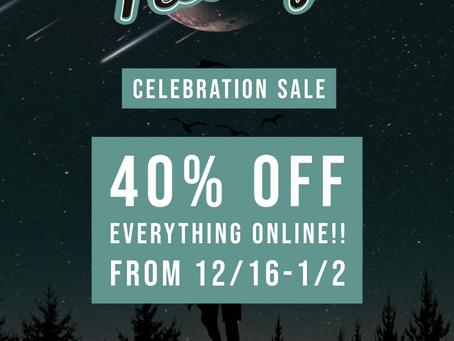 New Celebration Sale!!