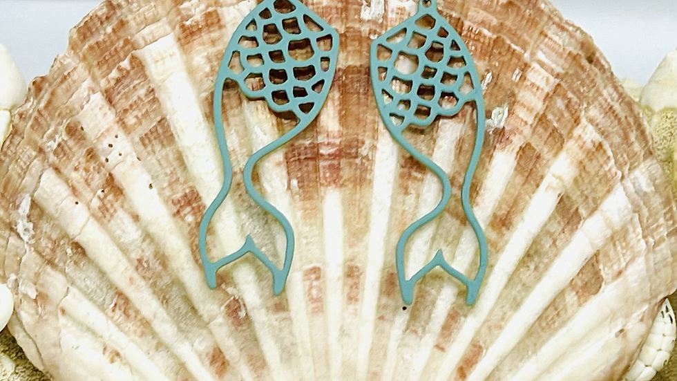 Mermaid tale earrings