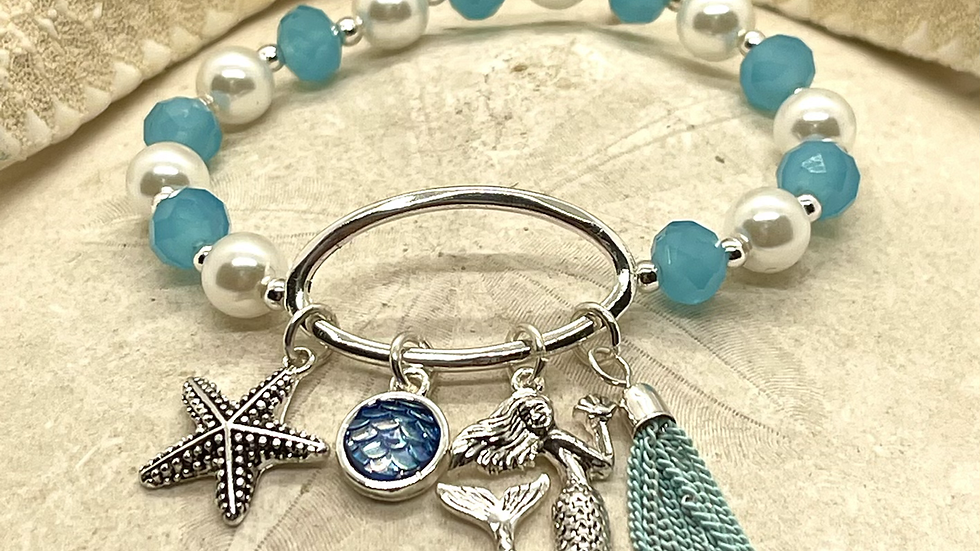 Mermaid bracelet with charms