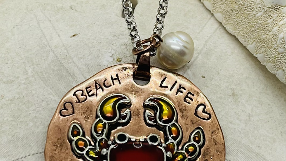 Beach life❤️ Necklace (30inches in length)