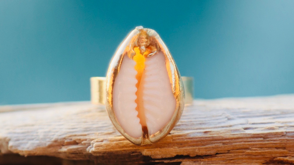 Gold Crowley ring