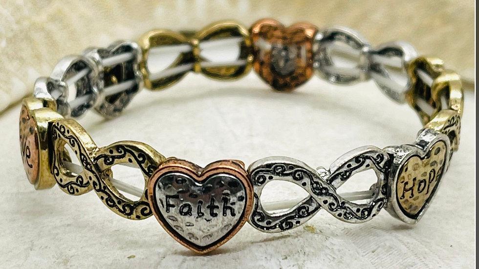 Faith, Love and hope bracelet