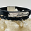 Thumbnail: Black leather double believe bracelet