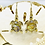 Thumbnail: Gold turtle earrings , mother of turtle / nickle free