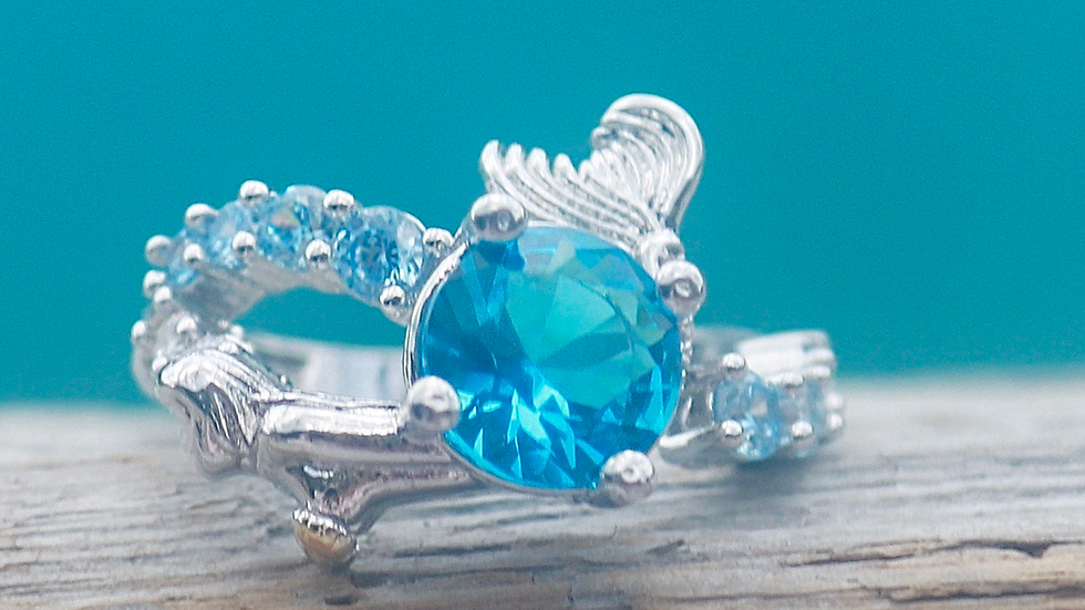 .925 sterling silver mermaid ring