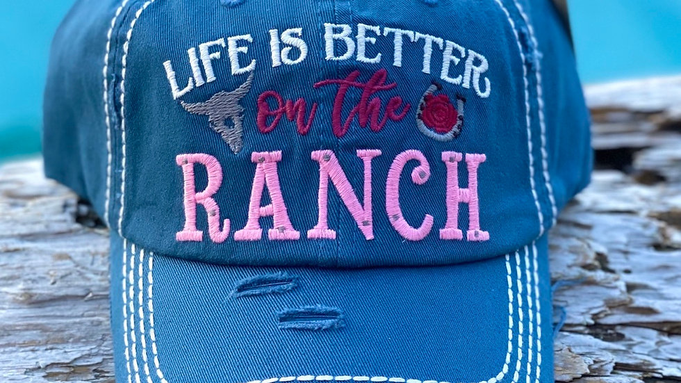 Vintage cap Life is better on the ranch