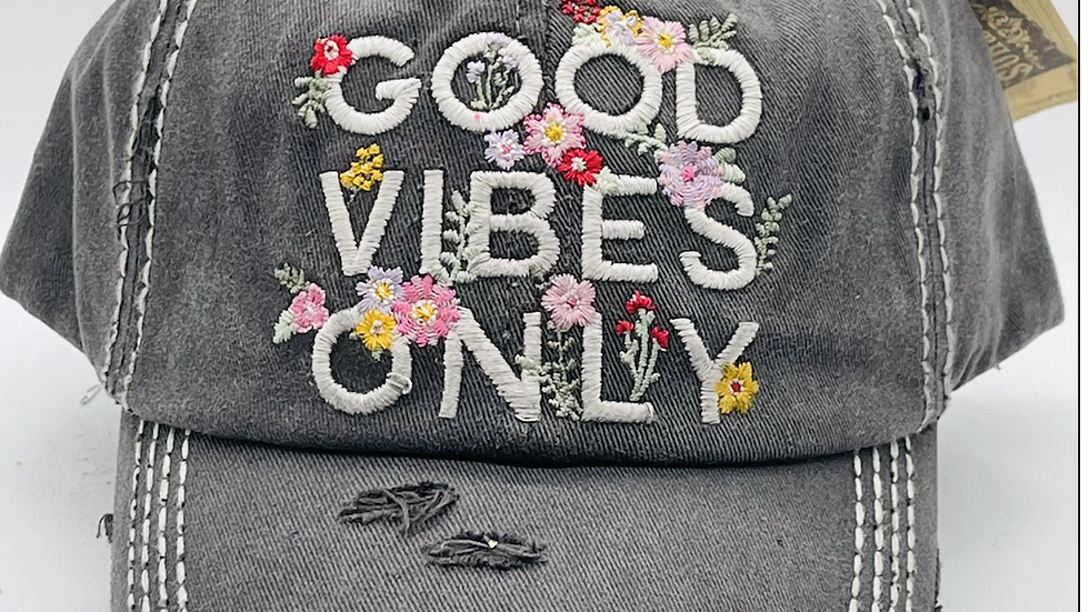 Good Vibes only vintage cap