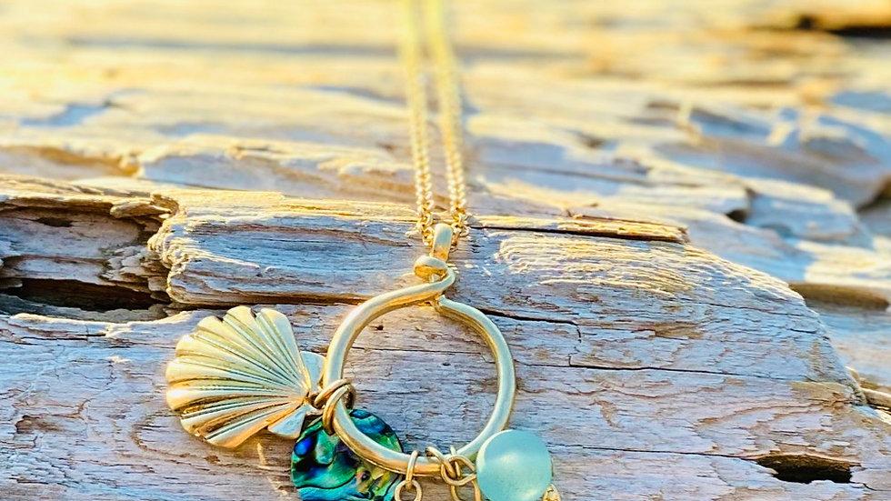 Gold Coastal necklace