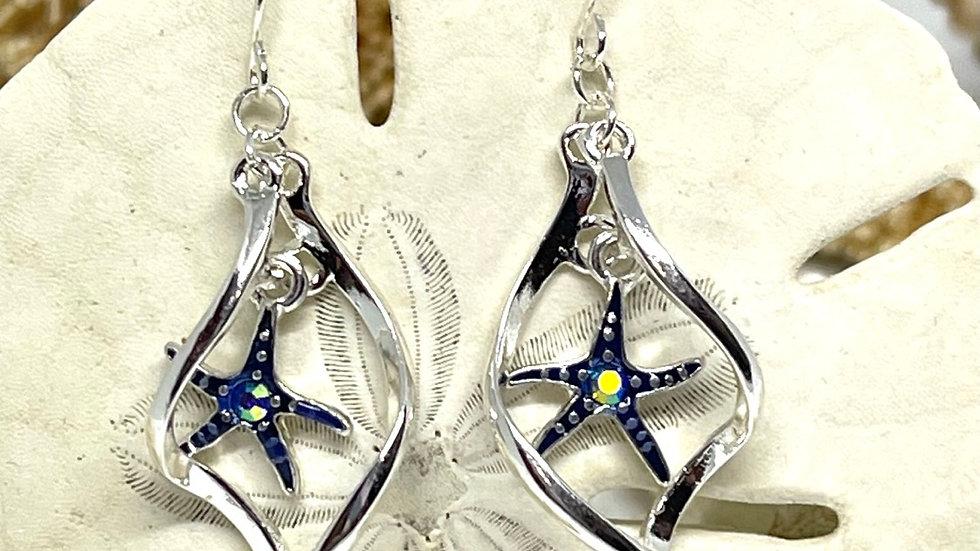 Starfish earrings /nickle free