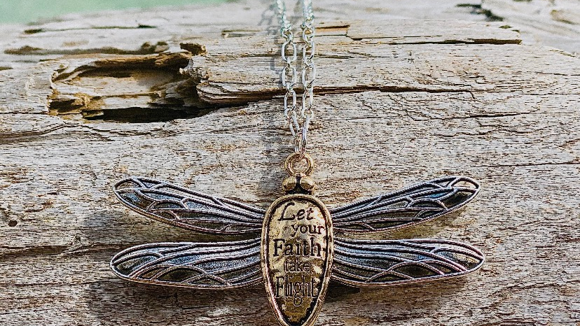 inspirational dragonfly necklace