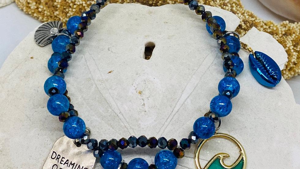 Seahorse double coastal bracelet
