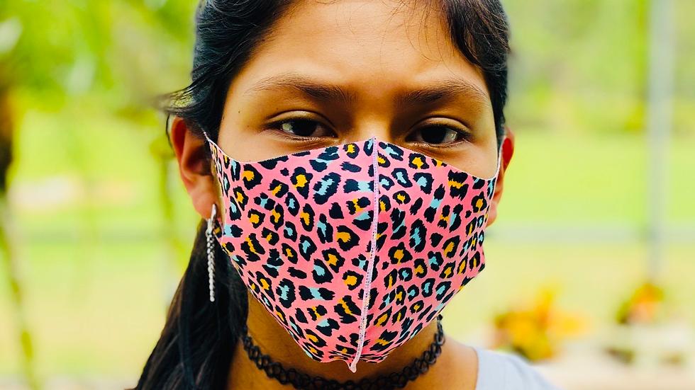 Pink fashion mask