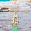 Thumbnail: Sailboat sea glass necklace