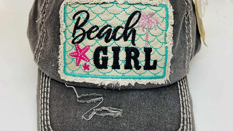 Vintage beach girl cap