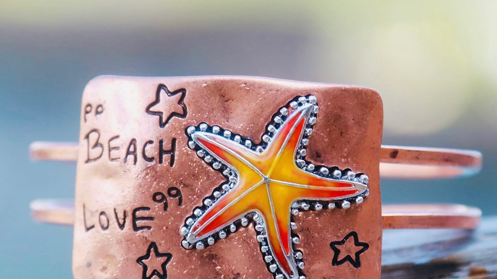 Copper starfish bracelet