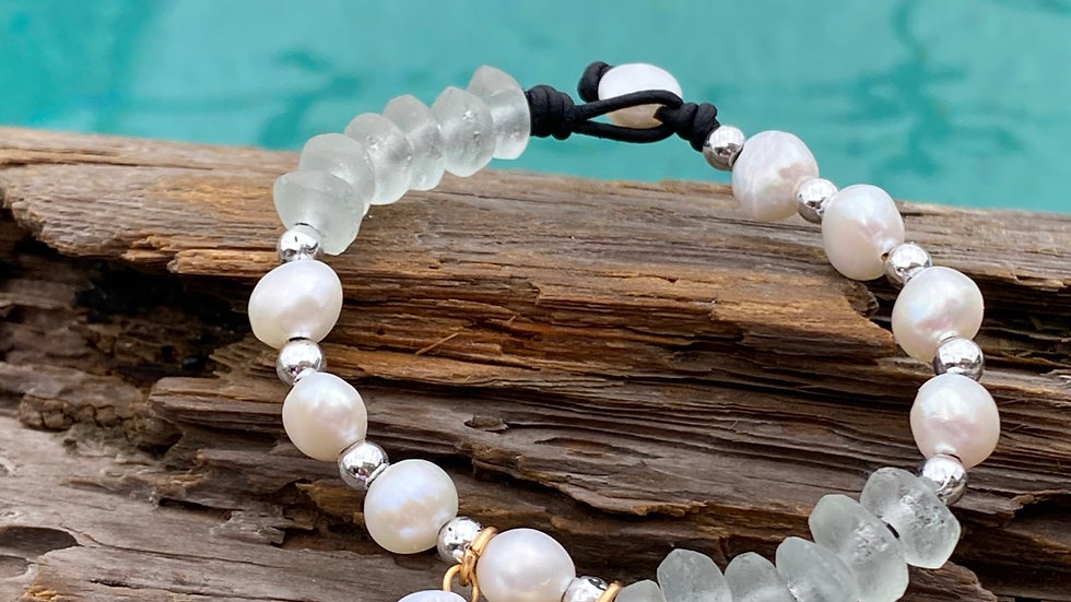 Starfish and shell bracelet