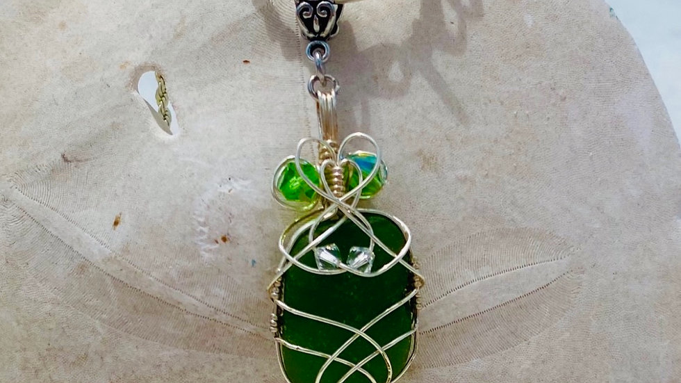 Sea Glass necklace from Romania