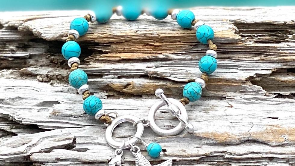 Starfish and seahorse bracelet