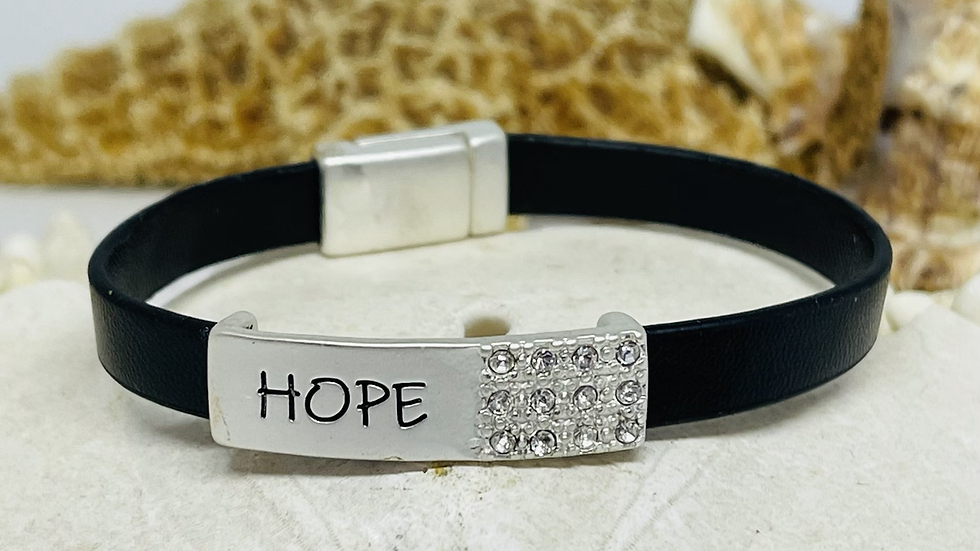 Hope bracelet with Magnetic clasp