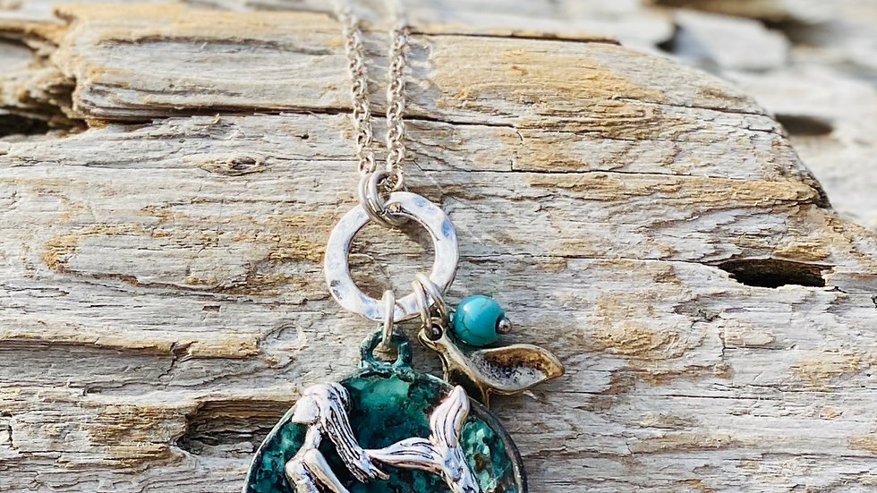 Patina mermaid Necklace