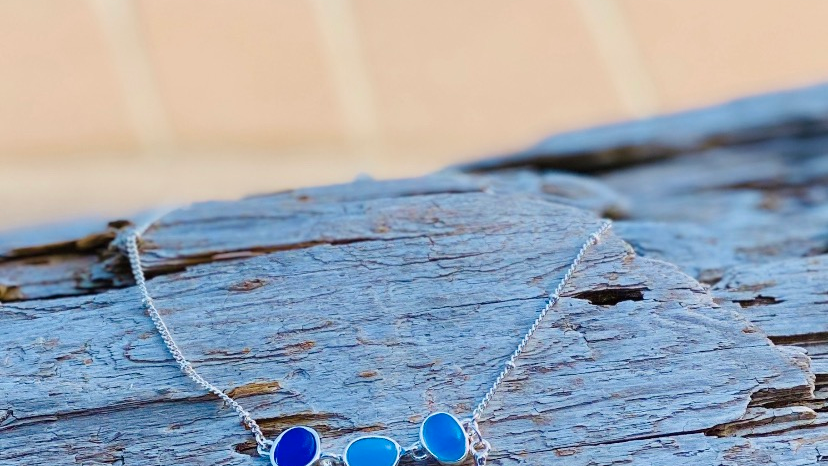 turtle anklet with seaglass