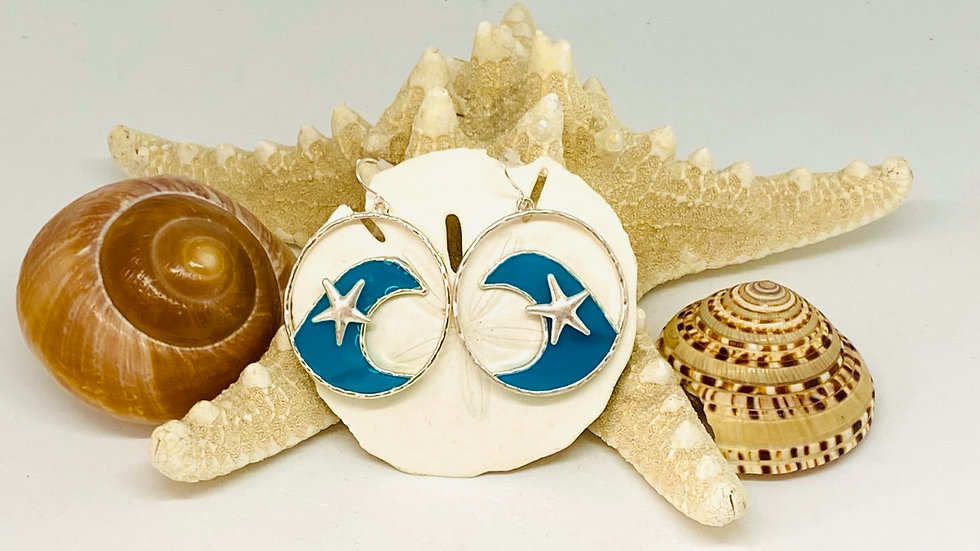 Starfish Earrings with BluWave