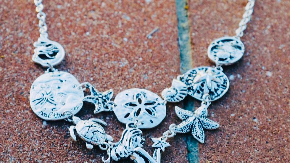 Silver mermaid choker