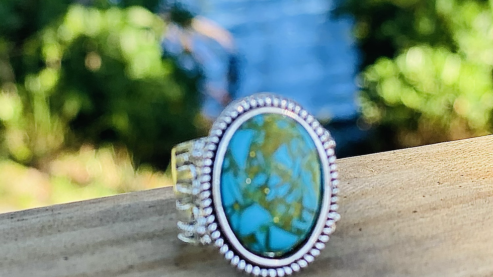 Turquoise ring / size 8