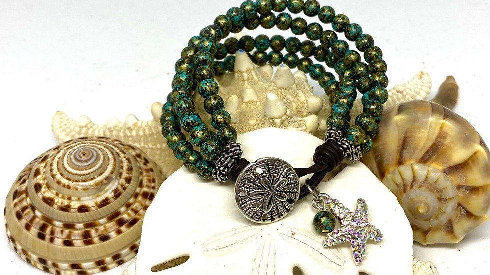 Starfish and sanddollar bracelet