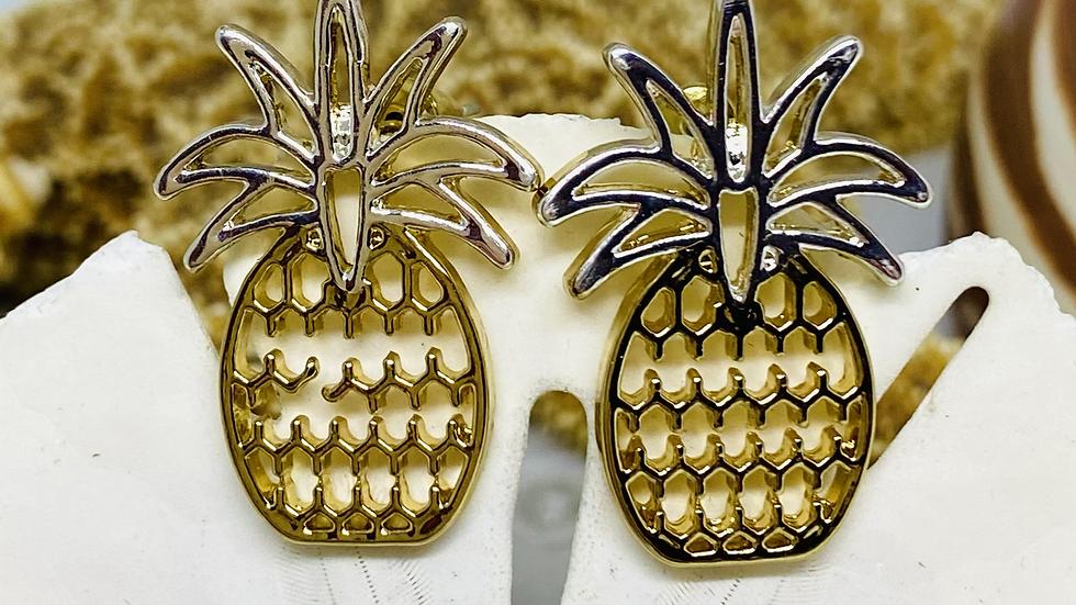 Pineapple earrings/ Nickel free