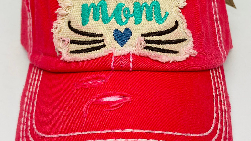 Cat Mom vinage cap