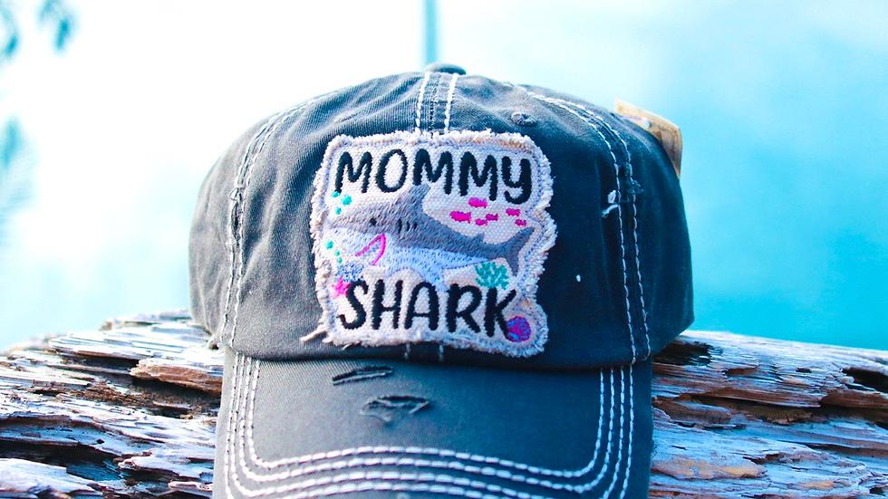 Shark Mom vintage cap