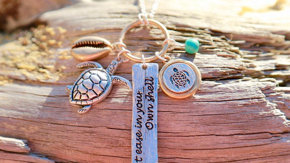 Turtle charm necklace