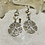 Thumbnail: White washed sand dollars earrings