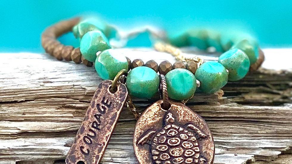 Turtle bracelet /Courage