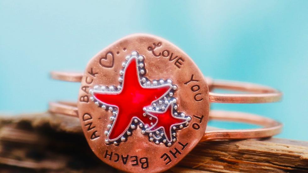Starfish copper bracelet