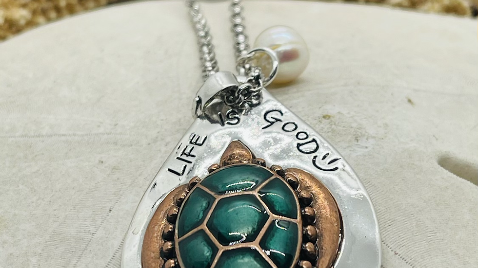 Turtle necklace with 30 inch chain