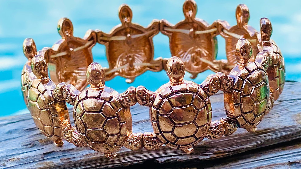 Copper Turtle bracelet