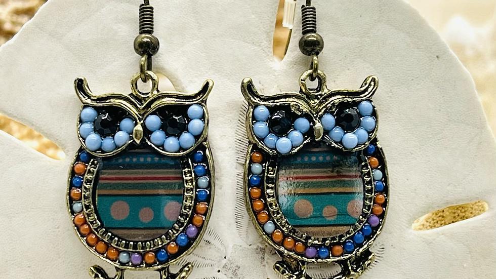 Owl earrings /nickle free