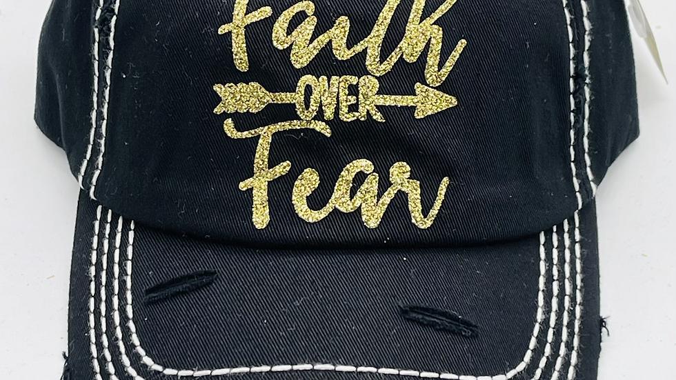 Faith over fear vintage cap