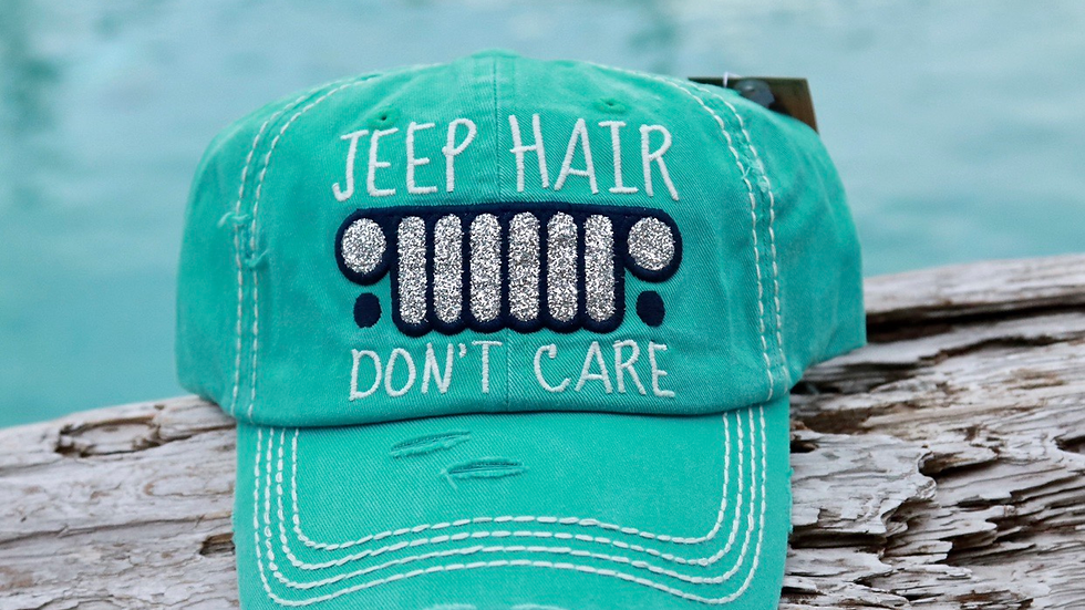 Vintage cap Jeep Hair Don't Care