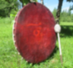Shamans Drum used in shamanic healing and coaching sessions by shamanic practitioner Sarah L Kent