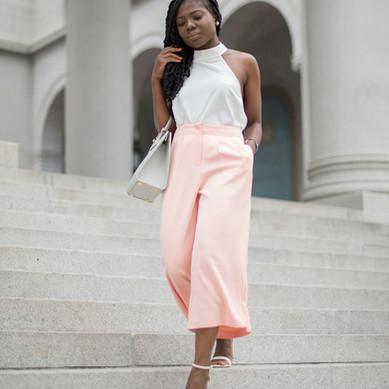 Spring Lookbook: Tailored Pants & Silk Top