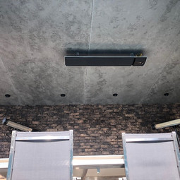 warmtestraler aan het plafond