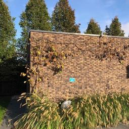 poolhouse met gelijmde steen