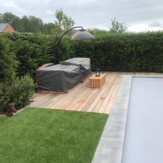 houten terras padouk