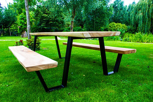 boomstam picknicktafel 250cm
