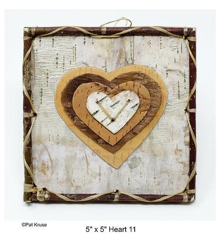 """Heart 11 - 5"""" x 5"""""""