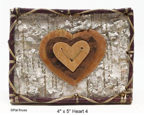 """Heart 4- 4"""" x 5"""""""