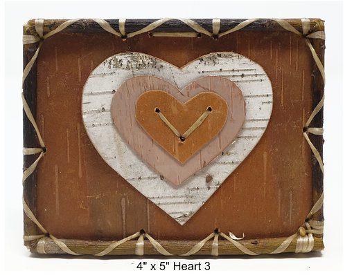 """Heart 3- 4"""" x 5"""""""